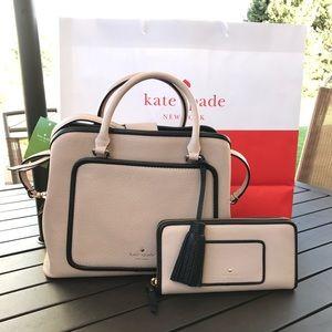 💦🏝kate spade Satchel bag set🏝crossbody & wallet